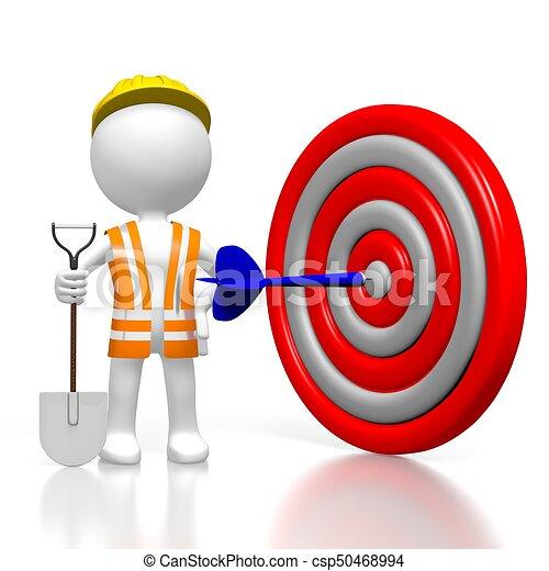 3D worker - dart concept - csp50468994