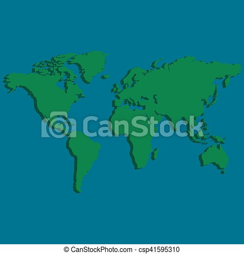 3d world map earth 3d world map of the earth with factom vector 3d world map earth csp41595310 gumiabroncs Images