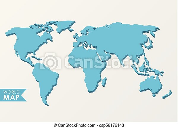 3d world map isolated on a light background eps vector search clip 3d world map csp56176143 gumiabroncs Gallery