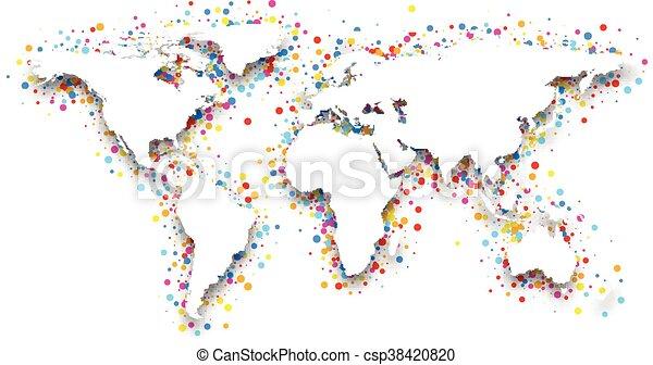 3d world map. - csp38420820