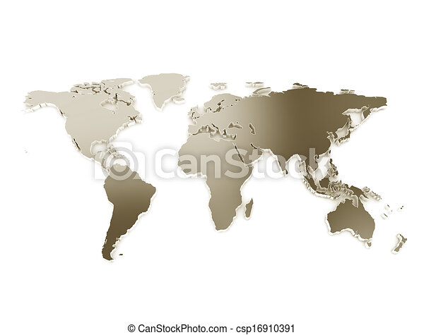 3d world map metal texture isolated on white 3d world map metal texture isolated on white csp16910391 gumiabroncs Images