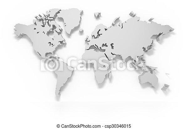 3D world map - csp30346015