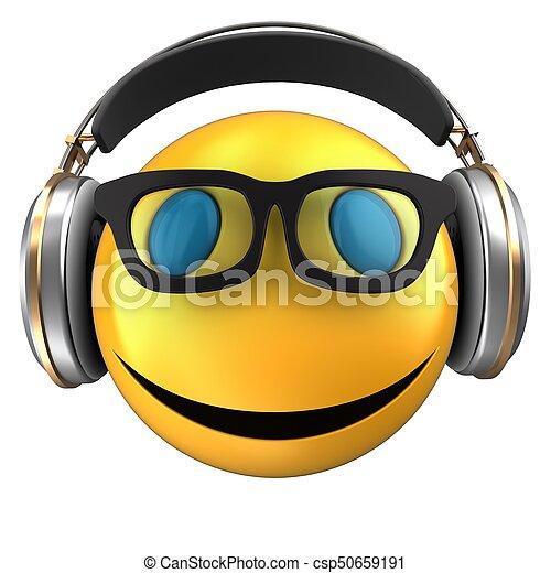 3d yellow emoticon smile - csp50659191