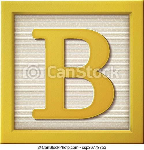 block letter b up look at 3d yellow letter block b 579