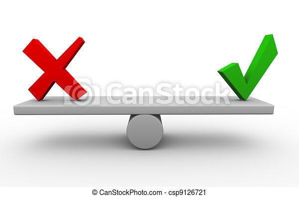3d yes no balance - csp9126721