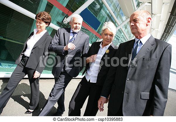 Grupo de empresarios mayores - csp10395883