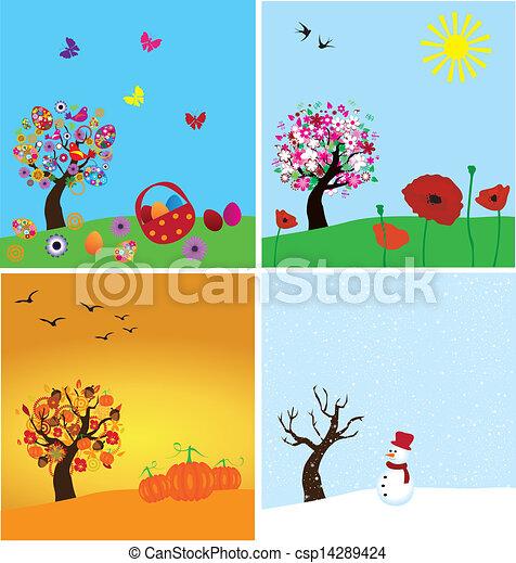 4つの季節 - csp14289424