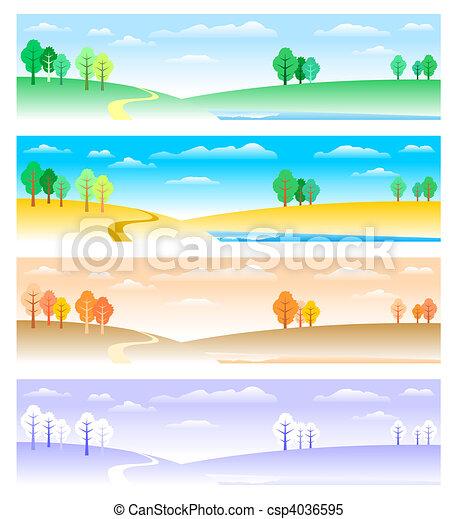 4つの季節 - csp4036595