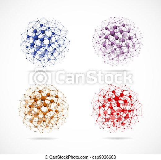 4, 球, 分子 - csp9036603