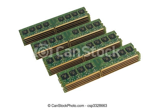 4 column of computer memory modules 2 - csp3328663