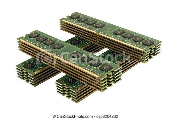 4 column of computer memory modules 3 - csp3204282