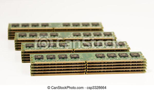 4 column of computer memory modules - csp3328664