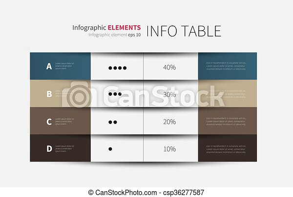 4 columns infographic table