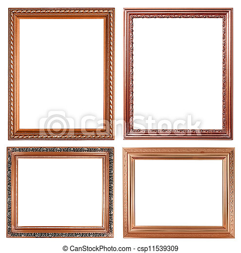 4 copper picture on white background - csp11539309