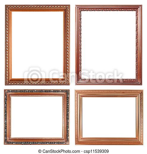 4 copper picture on white background - csp11539309
