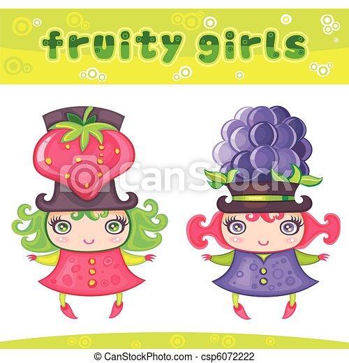 4, fruitig, meiden, reeks - csp6072222