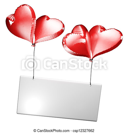 4 Heart Label - csp12327662