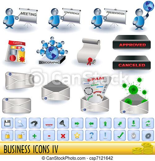 Íconos de negocios 4 - csp7121642