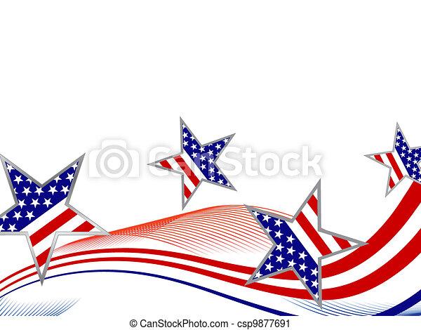 4 julho, dia, independência - csp9877691