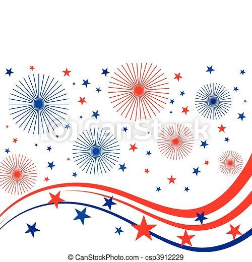 4 de julio fuegos artificiales - csp3912229