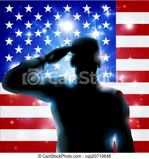 4. Juli oder Veteranen Tag illustrati - csp20716648