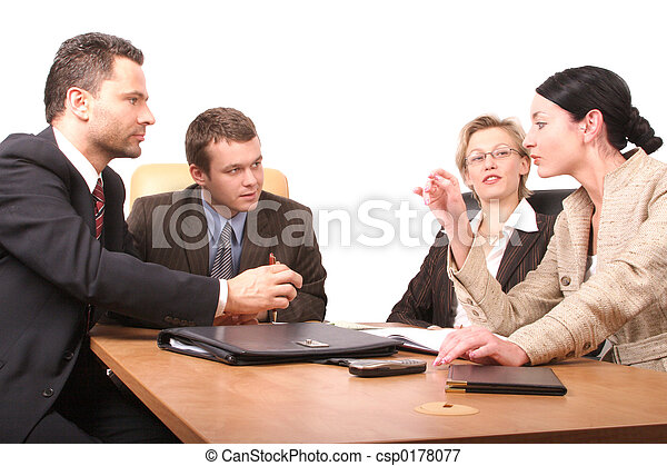 4 persons meeting - csp0178077