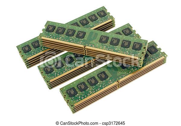 4 pile of computer memory modules 2 - csp3172645