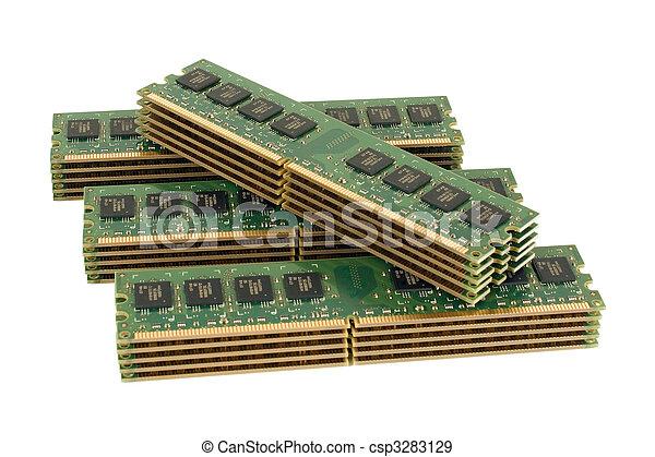 4 pile of computer memory modules - csp3283129