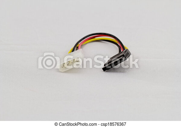 Vector Line Art Converter : Pin connector sata converter white background stock