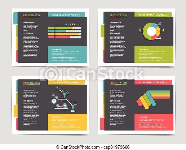 4 presentation business templates infographics for leaflet poster