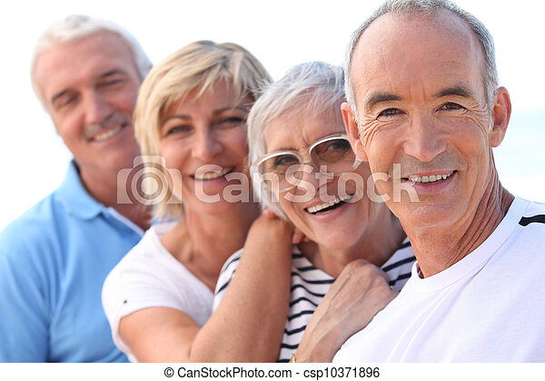 4 senior people laughing - csp10371896