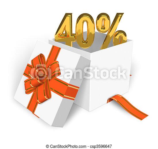 40% discount concept  - csp3596647