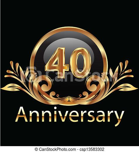 40 years anniversary birthday - csp13583302