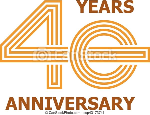 40 Years Anniversary Symbol Illustration For The Web