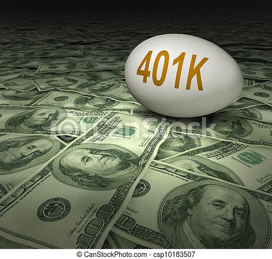 401k, besparingar, avgång, investering - csp10183507