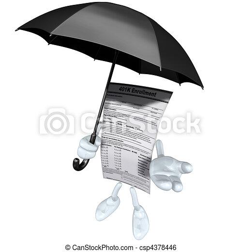401K Form With Umbrella  - csp4378446