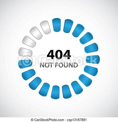 404 error concept with special design - csp13187881