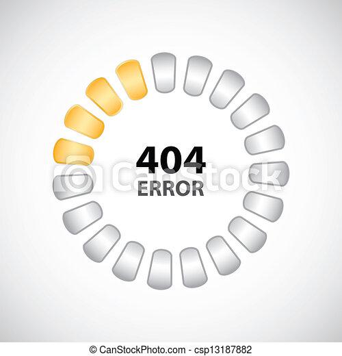 404 error concept with special design - csp13187882