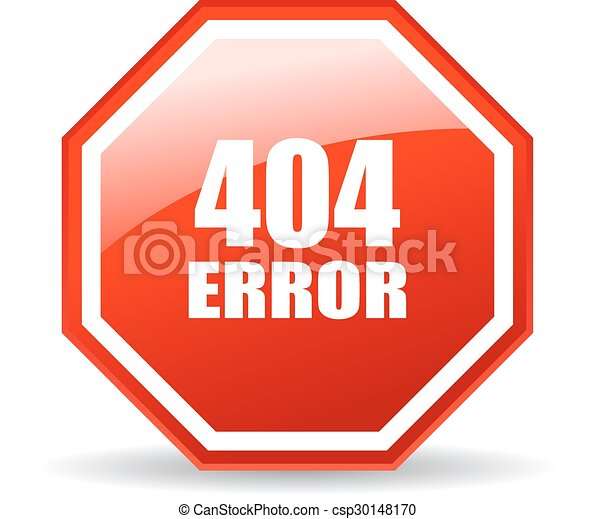 404 error icon - csp30148170