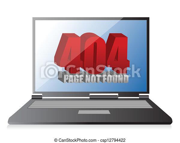 404 error on a laptop - csp12794422