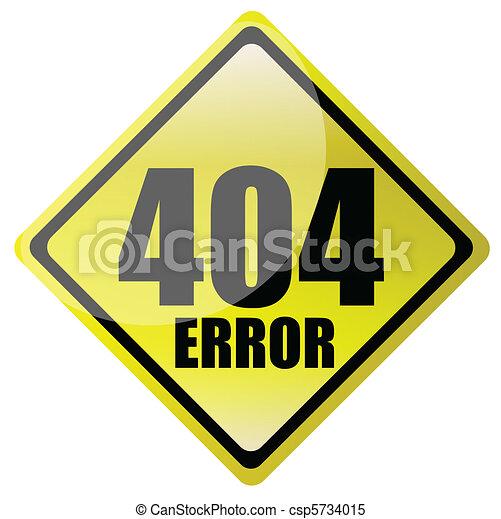 404 error sign  - csp5734015