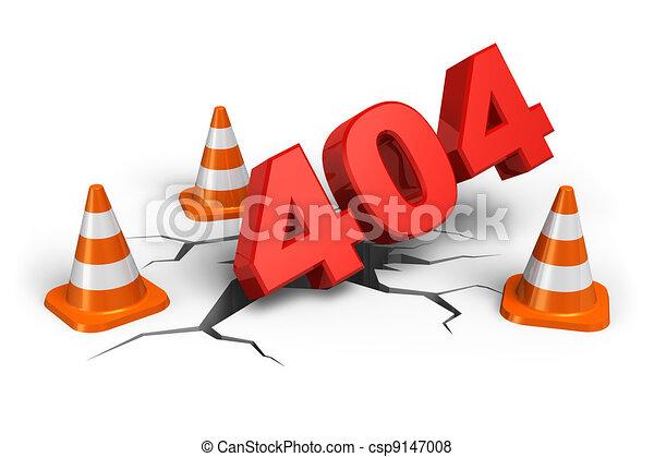 404 webpage error concept - csp9147008