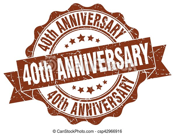 40th anniversary stamp sign seal