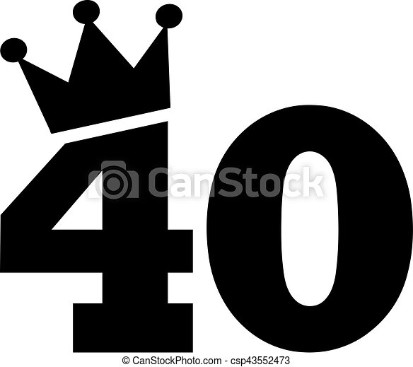 40th birthday number crown vectors illustration search clipart rh canstockphoto com 40th birthday clipart for facebook 40th birthday clipart free