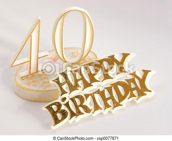 40th birthday sign - csp0077871