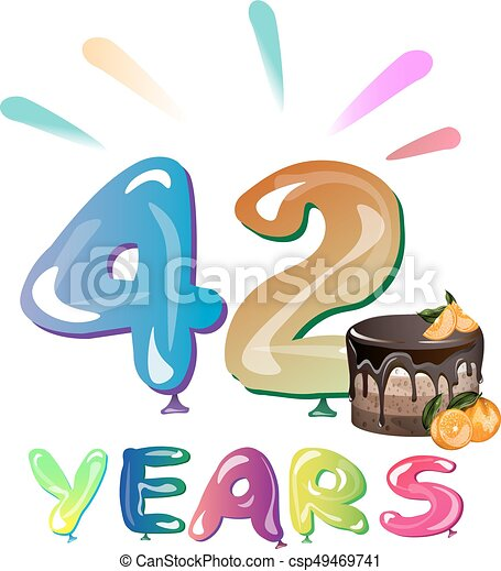 42 Years Birthday Celebration - csp49469741
