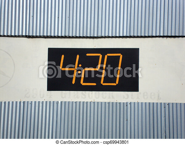 420 Numbers on side of Building - csp69943801