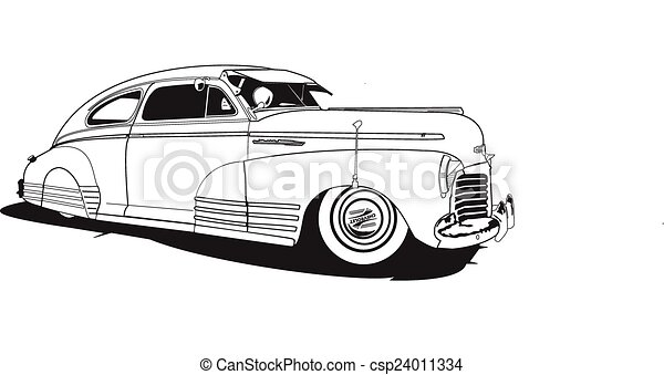 48 chevrolet  bomb  1948 chevrolet  line drawing  vector