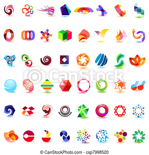 48 different colorful vector icons: (set 4) - csp7998520