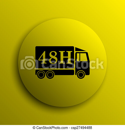 48H delivery truck icon - csp27494488